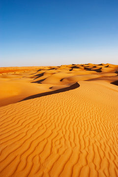 Sultanate Of Oman, Wahiba Sands, dunes in the desert