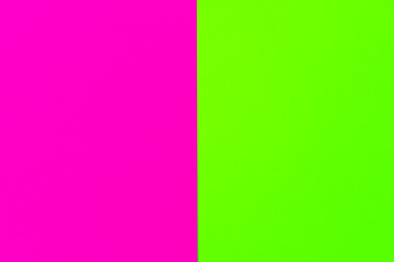 Trendy bold color duotone neon background in pink and green with place for text