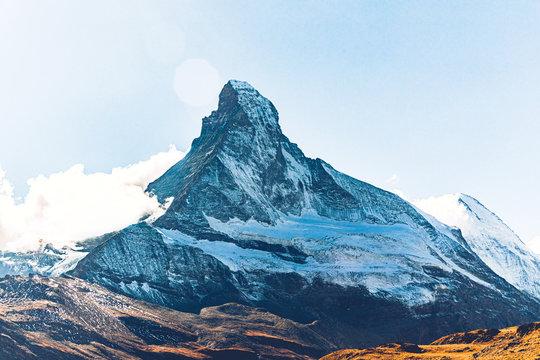 Scenic view of Matterhorn mountain against sky