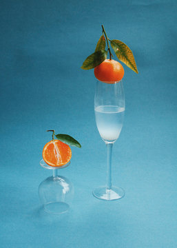 View of an orange fruit on a table