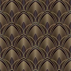 Vector lines. Art Deco Pattern.