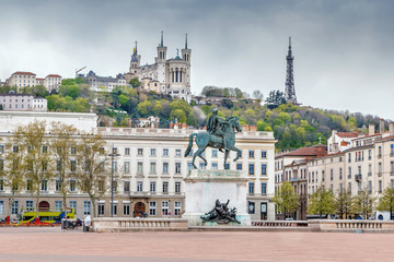 Fototapete - Place Bellecour, Lyon, France