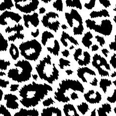 Trendy Jaguar seamless pattern black