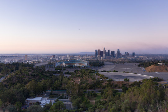 Los Angeles Cityscape at dusk