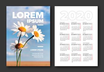Postcard Calendar Layout