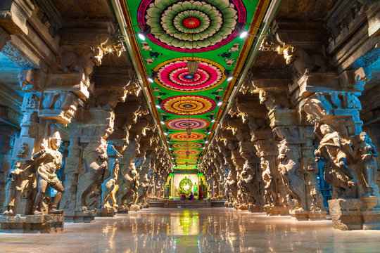 Thousand pillar hall, Meenakshi Temple