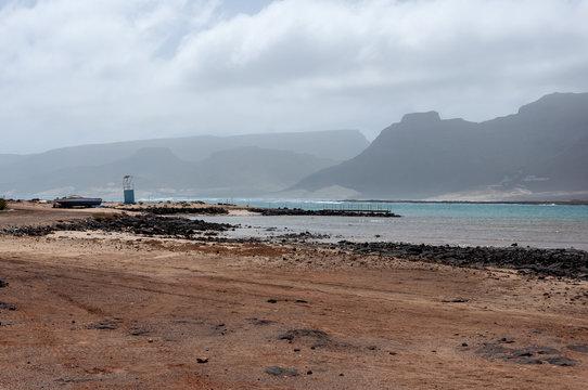 Volcanic beach at Baia das Gatas (Sao Vicente Island, Cape Verde)