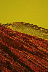 Image of multicolor mountains