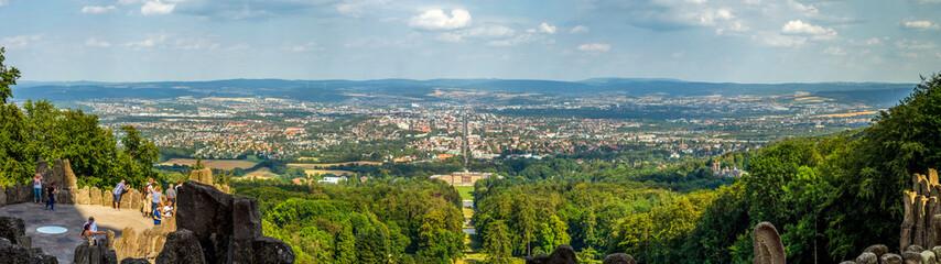 Wall Mural - Bergpark Wilhelmshöhe und Panorama über die Stadt Kassel, Hessen, Deutschland