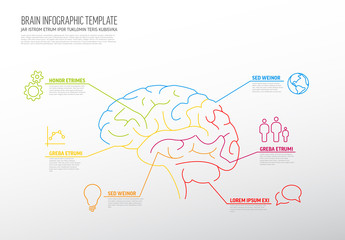 Infographic with Brain Illustration