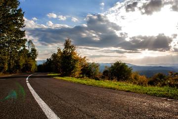 Idyllic Road In mountain stock photo