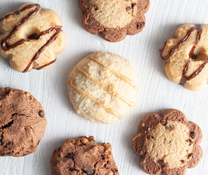 Assorted Cookies On a Simple White Table