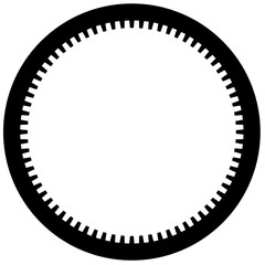 Bicycle chainring, Cogwheel Flat gear in black
