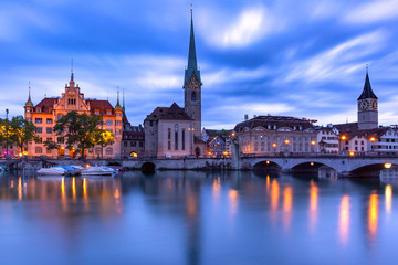Fototapete - Zurich, largest city in Switzerland