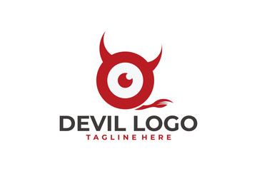 devil logo icon vector isolated