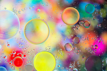 image of oil drop on water for modern and creation design background.