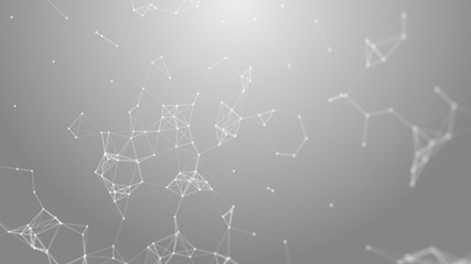 plexus , abstract polygonal space low poly white background with connecting dots and lines....