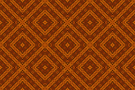 Textured pattern of an African fabric, orange color
