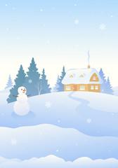 Photo sur Plexiglas Christmas snowman vertical background