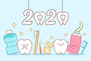 cartoon tooth hold 2020
