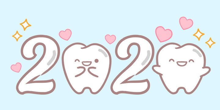cartoon tooth hold 2020