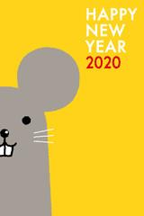 年賀状2020 ねずみ