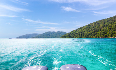 Landscape view Surin Island as a tourist destination featured in the beauty under the sea Is a place in southern Thailand Fototapete