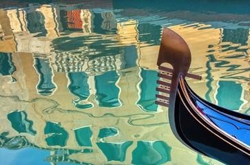 Keuken foto achterwand Gondolas Venice gondola and reflection in Italy.