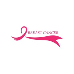 Breast cancer awareness,ribbon logo vector template