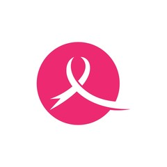 Breast cancer awareness,ribbon logo vector template