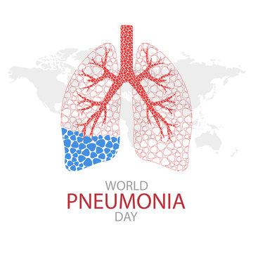 Vector Illustration on the theme World Pneumonia Day.