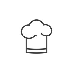 Chef hat line icon. linear style sign for mobile concept and web design. Cooking hat outline vector icon. Symbol, logo illustration. Vector graphics