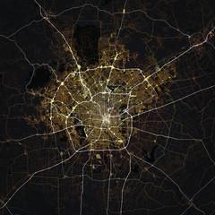 Map San Antonio city. Texas