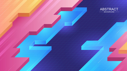 Abstract Background. Composition with an isometric shape. Vector illustration