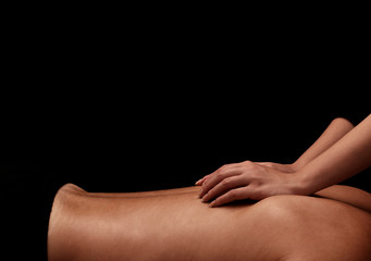 woman giving a man back massage