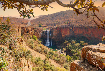 The Elands River Waterfall at Waterval Boven in Mpumalanga, South Africa