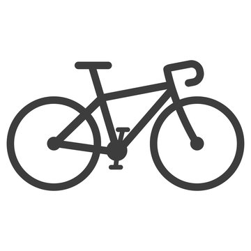 bicycle icon vector on white background