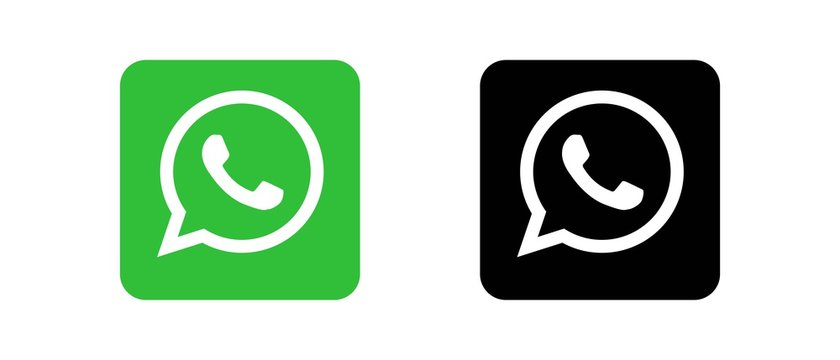 WhatsApp Set of social media logos