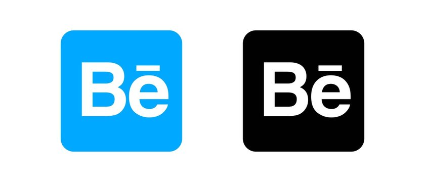 Behance Set of social media logos