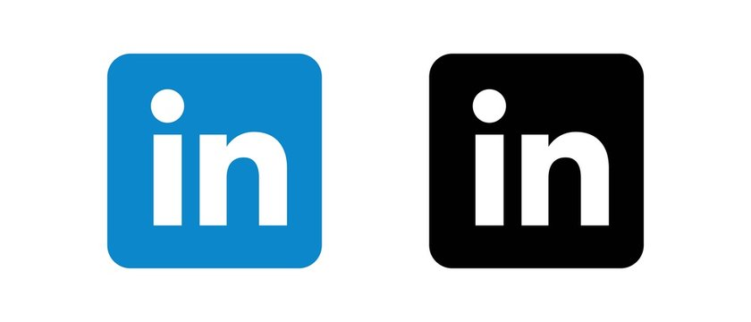 linkedin Set of social media logos