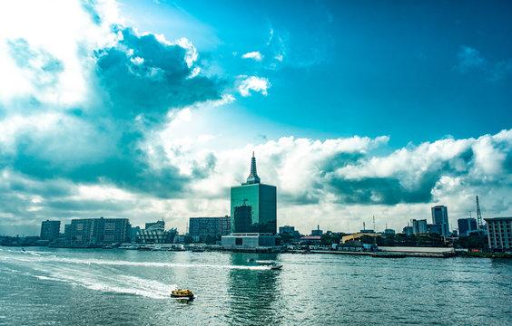 A view of the Lagoon, Victoria Island, Lagos
