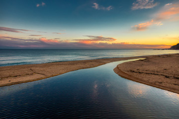 Nice sunset picture from Spanish beach in Costa Brava