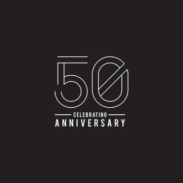 50th years celebrating anniversary emblem logo design
