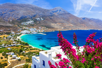 Garden Poster Coast luxury Greek holidays - Amorgos island,Aegialis bay, Cyclades