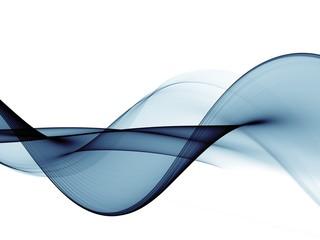 Fotobehang Fractal waves Color light blue abstract waves design