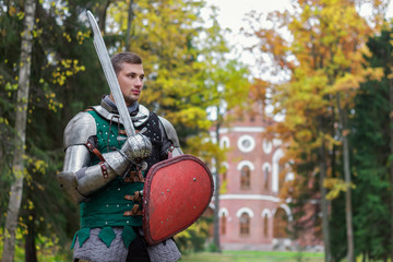 brave knight ready for battle  fighter powerful medieval
