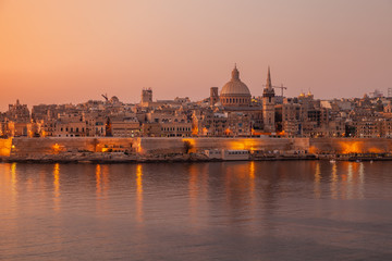 Wall Murals Place of worship Valletta, Malta. Coastal landscape