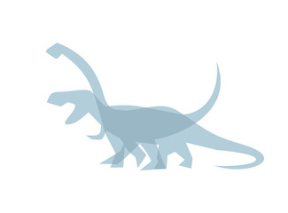 Creative design of dinosaurs icon