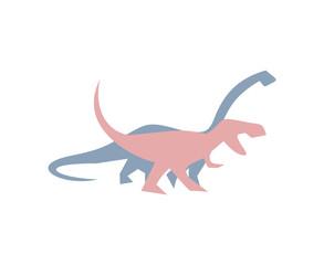 diplodocus and t-rex illustration