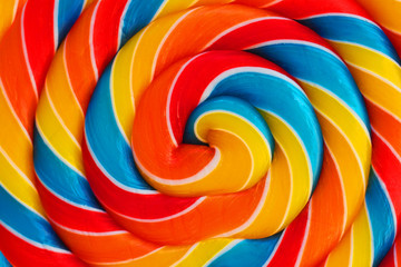 Background of lollipop swirl, candy closeup